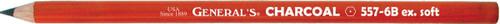 Charcoal Pencils 2/Pkg-6B -557-6B