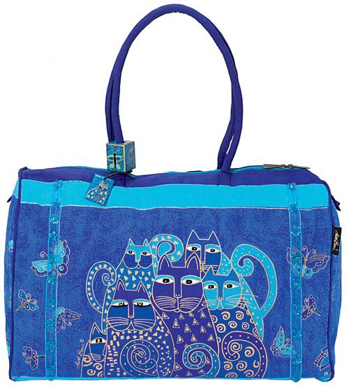 """Laurel Burch Travel Bag 21""""X9""""X14""""-Indigo Cats -LB414 - 651462020749"""