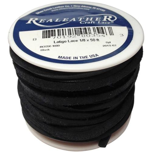 """Latigo Lace .125""""X50' Spool-Black -ROS50-1000 - 870192003543"""