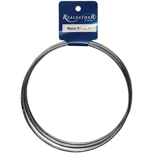 """Zinc Metal Rings-5"""" 4/Pkg -BRI-05-04 - 870192007145"""