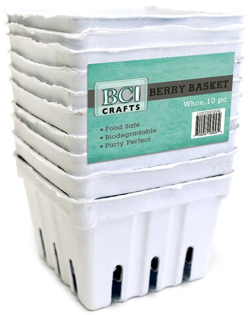 Berry Basket 10/Pkg-White -10STRWHT - 750810251139