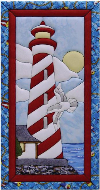 Quilt-Magic No Sew Wall Hanging Kit-Lighthouse -QM500B12 - 724180050128