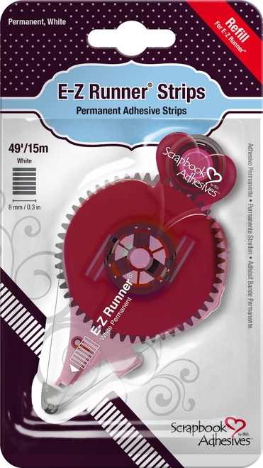 Scrapbook Adhesives E-Z Runner Refill-Permanent, 49', Use For 12006 -12016 - 093616012017
