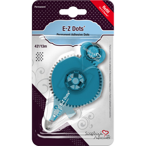 Scrapbook Adhesives E-Z Dots Permanent Adhesive Refill-Permanent, 43', Use In 12026 -12036 - 093616012031