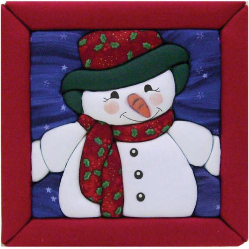 Quilt-Magic No Sew Wall Hanging Kit-Snowman -QM516 - 724180005166