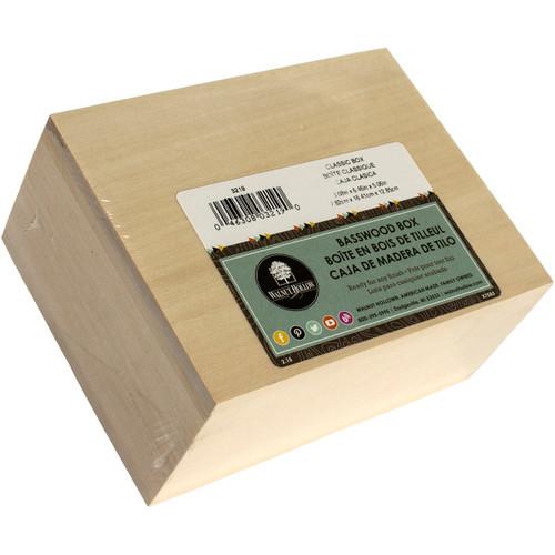 "Walnut Hollow Basswood Hinged Classic Box-3""X6.5""X5"" -3219 - 046308032190"