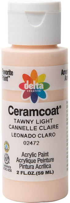 Ceramcoat Acrylic Paint 2oz-Tawny Light Semi-Opaque -2000-2472 - 017158247225
