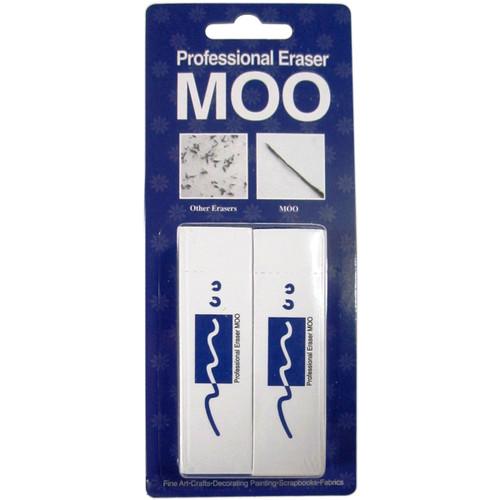 MOO PVC Erasers 2/Pkg-Medium -MOO300DB - 882233300115