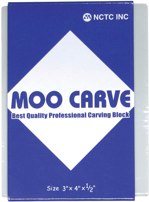 "Moo Carving Block-3""X4""X.5"" -MOO-3405 - 882233100005"
