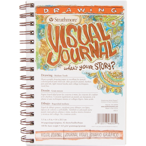 """Strathmore Visual Journal Drawing 5.5""""X8""""-42 Sheets -460500 - 012017460050"""