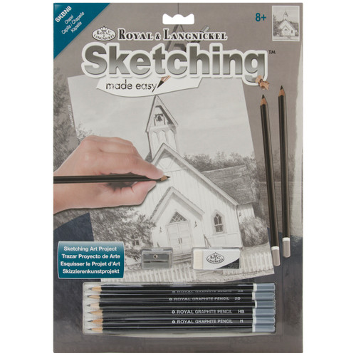 "Sketching Made Easy Kit 9""X12""-Chapel -SKBN-8 - 090672068392"