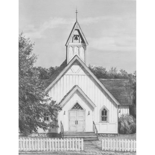 "Sketching Made Easy Kit 9""X12""-Chapel -SKBN-8"