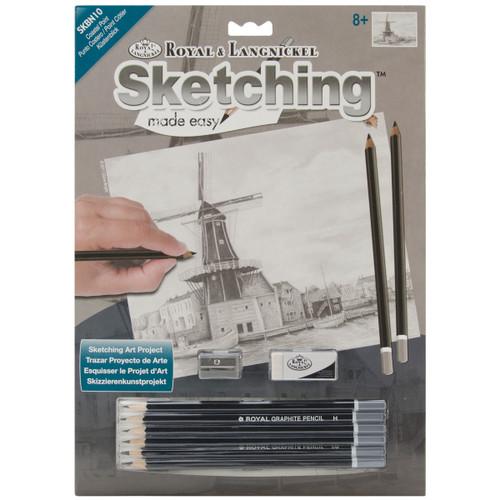 "Sketching Made Easy Kit 9""X12""-Coastal Point -SKBN-10 - 090672068415"