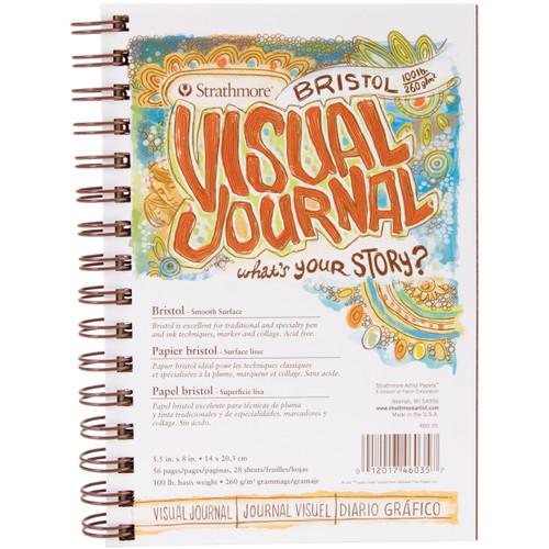 "Strathmore Visual Journal Bristol Smooth 5.5""X8""-28 Sheets -460350 - 012017460357"