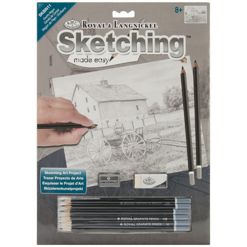 """Sketching Made Easy Kit 9""""X12""""-Country Wagon -SKBN-11 - 090672068422"""