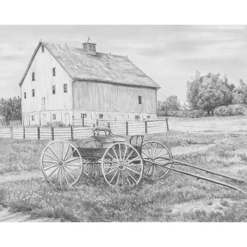 """Sketching Made Easy Kit 9""""X12""""-Country Wagon -SKBN-11"""