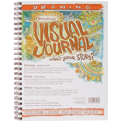 """Strathmore Visual Journal Drawing 9""""X12""""-42 Sheets -460900 - 012017460081"""