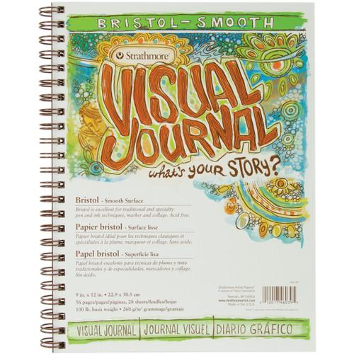 "Strathmore Visual Journal Bristol Smooth 9""X12""-28 Sheets -460390 - 012017460395"