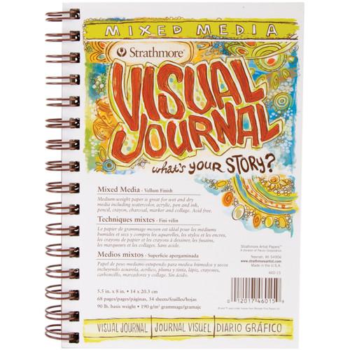 "Strathmore Visual Journal Mixed Media Vellum 5.5""X8""-34 Sheets -460150 - 012017460159"
