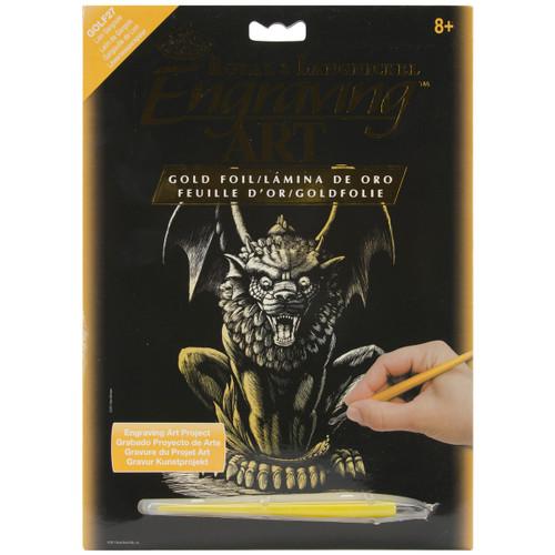 "Gold Foil Engraving Art Kit 8""X10""-Lion Gargoyle -GOLDFL-27 - 090672066879"