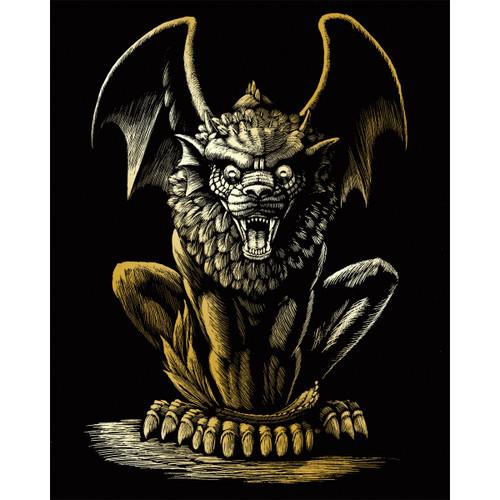 "Gold Foil Engraving Art Kit 8""X10""-Lion Gargoyle -GOLDFL-27"