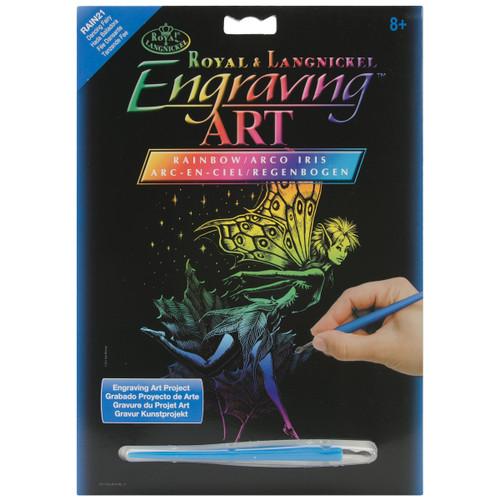 "Rainbow Foil Engraving Art Kit 8""X10""-Dancing Fairy -RAINFL-21 - 090672066954"