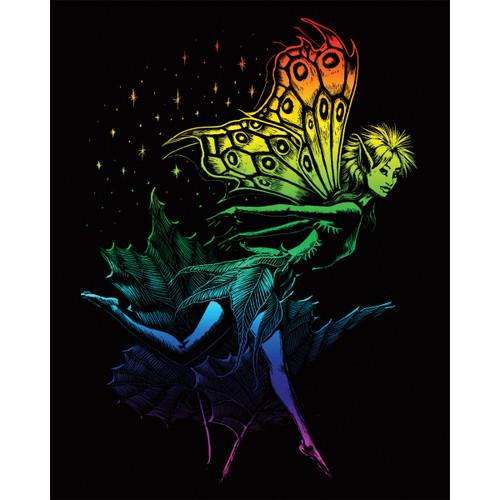 "Rainbow Foil Engraving Art Kit 8""X10""-Dancing Fairy -RAINFL-21"