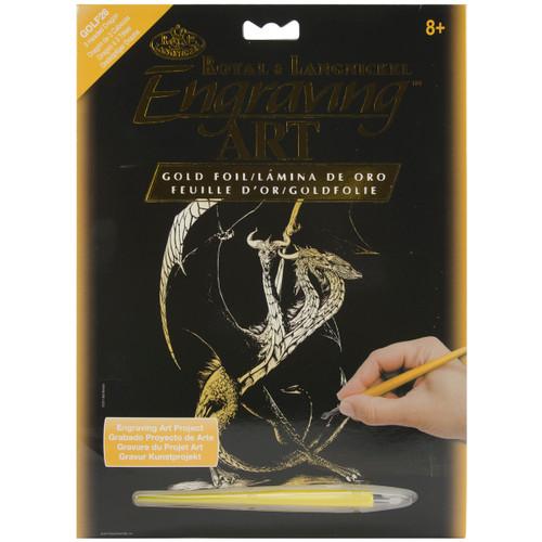 "Gold Foil Engraving Art Kit 8""X10""-3 Headed Dragon -GOLDFL-26 - 090672066862"