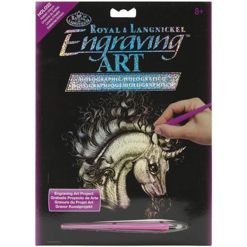 """Holographic Foil Engraving Art Kit 8""""X10""""-Arabian Unicorn -HOLOFL-22 - 090672066930"""