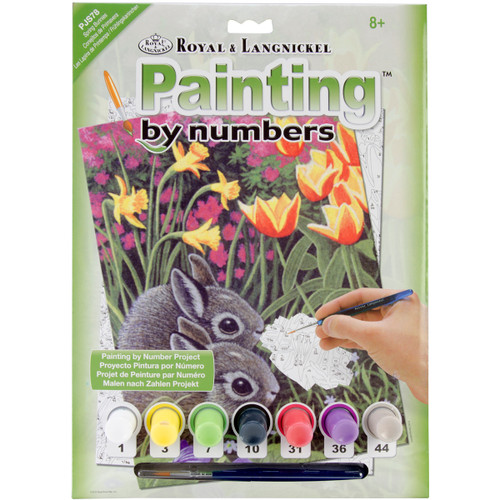 """Junior Small Paint By Number Kit 8.75""""X11.75""""-Spring Bunnies -PJS-78 - 090672077257"""