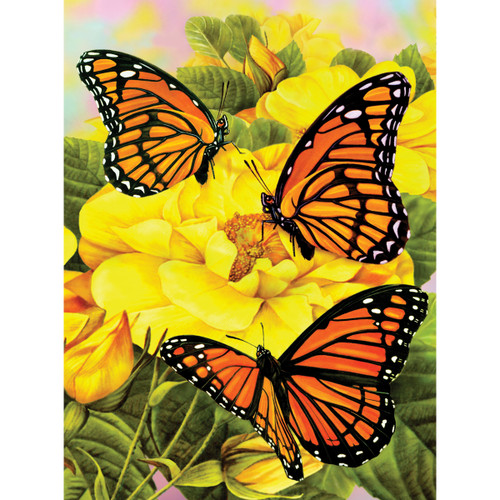 """Junior Small Paint By Number Kit 8.75""""X11.75""""-Majestic Monarchs -PJS-68 - 090672077158"""