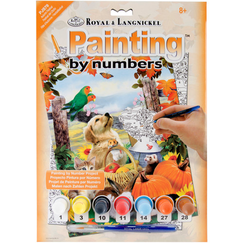"""Junior Small Paint By Number Kit 8.75""""X11.75""""-Autumn Festival -PJS-79 - 090672077264"""