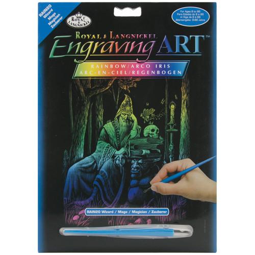 "Rainbow Foil Engraving Art Kit 8""X10""-Wizard -RAINFL-20 - 090672066947"