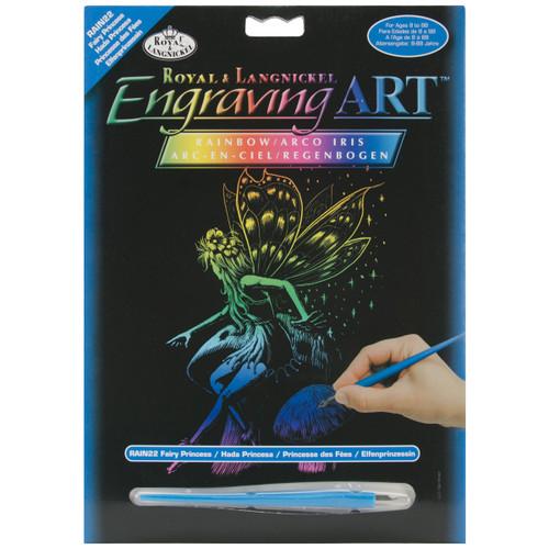 "Rainbow Foil Engraving Art Kit 8""X10""-Fairy Princess -RAINFL-22 - 090672066961"