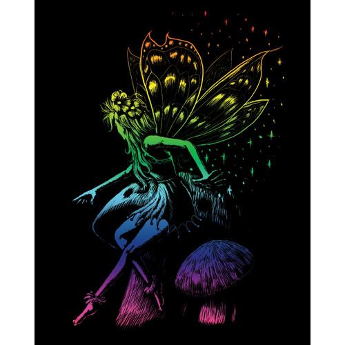 "Rainbow Foil Engraving Art Kit 8""X10""-Fairy Princess -RAINFL-22"