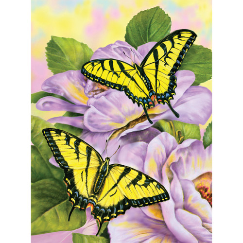 """Junior Small Paint By Number Kit 8.75""""X11.75""""-Swallowtail Butterflies -PJS-69 - 090672077165"""