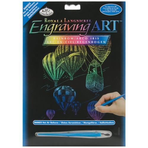 "Rainbow Foil Engraving Art Kit 8""X10""-Hot Air Balloons -RAINFL-23 - 090672068361"