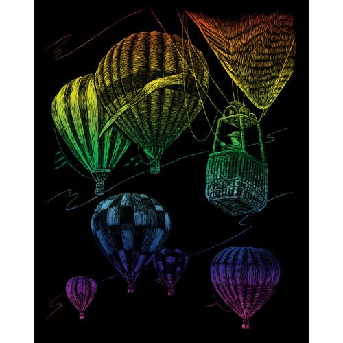 "Rainbow Foil Engraving Art Kit 8""X10""-Hot Air Balloons -RAINFL-23"