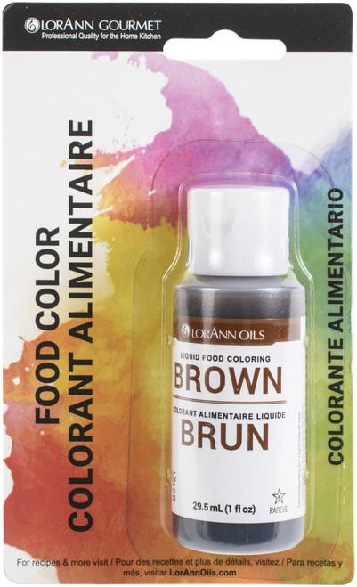 Liquid Food Color 1oz-Brown -LFC-1030 - 023535810357