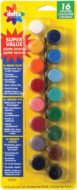 Ceramcoat Acrylic Paint Pots 16/Pkg-Vibrant -2957 - 017158295721