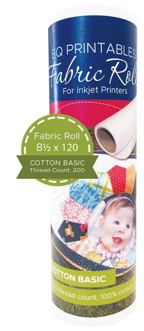 """EQ Inkjet Printable Basic Cotton Fabric On A Roll 8.5""""X120""""-P-FROLL - 657920668256"""
