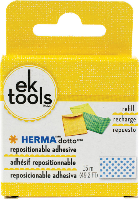 EK Tools HERMA Dotto Repositionable Adhesive Refill-49.2' For Use In 55-00054 & 55-01073 -E5500056 - 015586945171