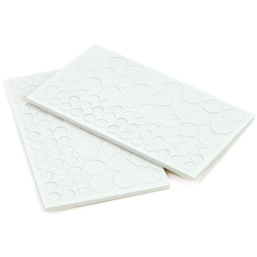 "3D Dots Foam Dot Adhesive-White Circles .125"" Thick 126/Pkg -E5501046"