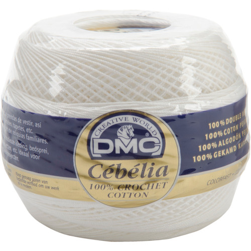 DMC/Cebelia Crochet Cotton Size 20-White -167G 20-BLANC - 077540124244
