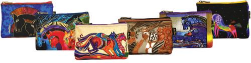 """Laurel Burch Cosmetic Bag Zipper Top Assortment 9""""X1""""X6""""-Horse Designs -LB4890 - 651462082433"""