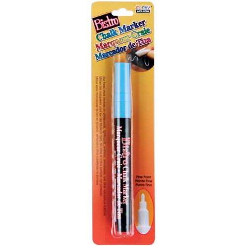 Bistro Chalk Marker Fine Point-Fluorescent Light Blue -482-C-F10 - 028617482507