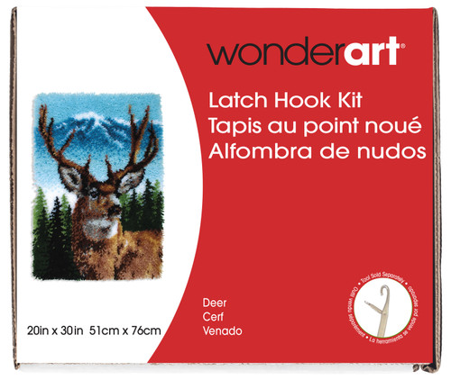 "Wonderart Classic Latch Hook Kit 20""X30""-Deer -426403 - 057355369283"