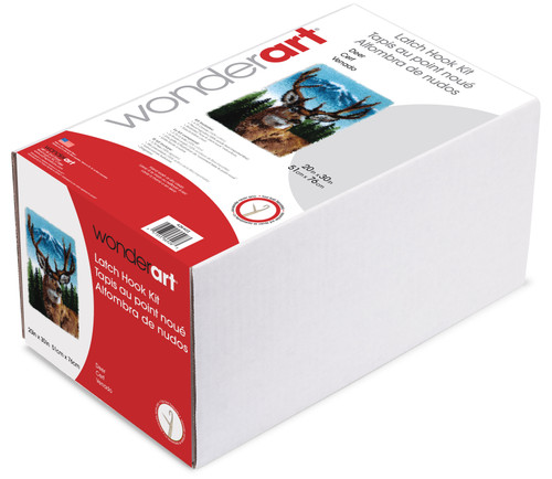 "Wonderart Classic Latch Hook Kit 20""X30""-Deer -426403"