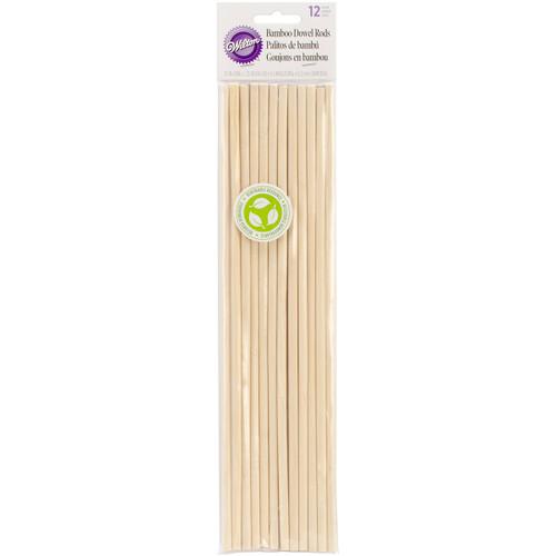 "Bamboo Dowel Rods 12/Pkg-12"" -W3991010 - 070896310101"