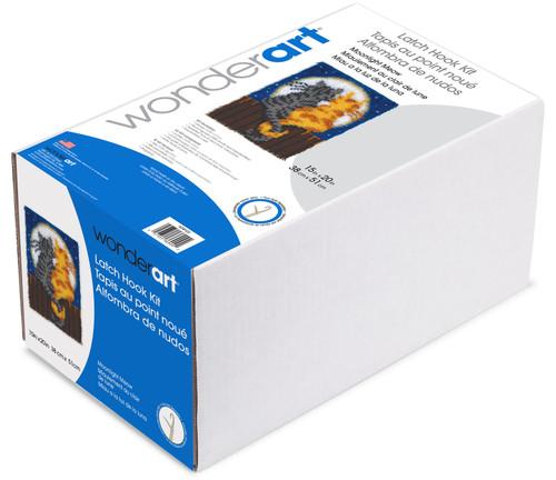 "Wonderart Latch Hook Kit 15""X20""-Moonlight Meow -426122"
